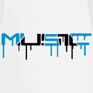 Music Graffiti Style Camisetas - Delantal de cocina
