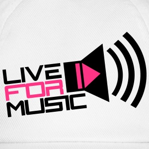Live For Music Play Loud Symbol Tee shirts - Casquette classique