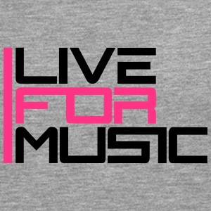 Live For Music Logo Tee shirts - T-shirt manches longues Premium Homme