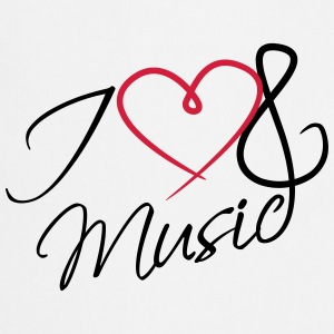 I Love Music Clef Tee shirts - Tablier de cuisine