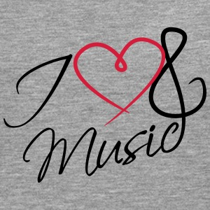 I Love Music Clef Tee shirts - T-shirt manches longues Premium Homme