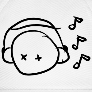 Funny Cute Music Lover Smiley Tee shirts - Casquette classique