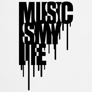 Music Is My Life Graffiti Design Camisetas - Delantal de cocina