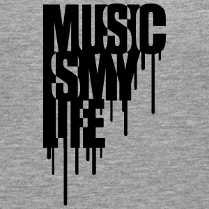 Music Is My Life Graffiti Design T-shirts - Mannen Premium shirt met lange mouwen