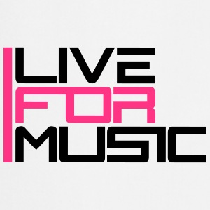 Live For Music Logo Camisetas - Delantal de cocina