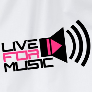 Live For Music Play Loud Symbol T-Shirts - Drawstring Bag