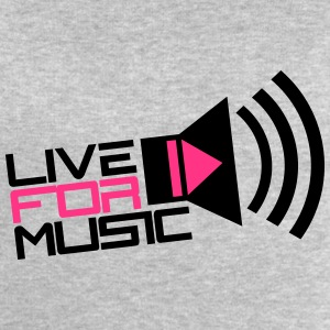 Live For Music Play Loud Symbol T-Shirts - Men's Sweatshirt by Stanley & Stella