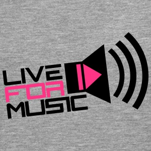 Live For Music Play Loud Symbol T-shirts - Mannen Premium shirt met lange mouwen