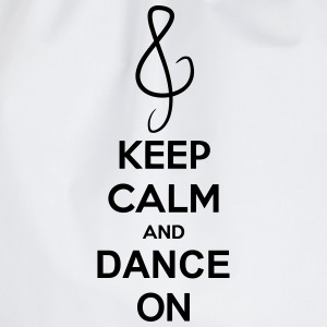 Keep Calm And Dance On Music Clef Camisetas - Mochila saco