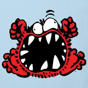 Angry Little Cartoon Monster by Cheerful Madness!! Shirts - Kids' Organic T-shirt