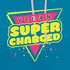 The Hero: Vegan Super Charged T-shirt - Contrast Colour Hoodie