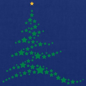 Christmas tree made ​​of stars  T-Shirts - Tote Bag