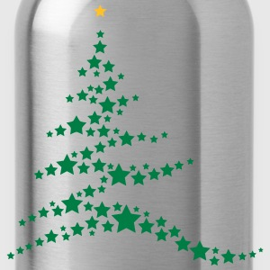 Christmas tree made ​​of stars  T-Shirts - Water Bottle