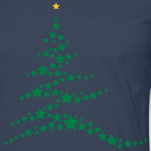 Christmas tree made ​​of stars  T-Shirts - Men's Premium Longsleeve Shirt