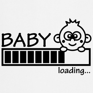 Baby Is Loading Girl T-shirts - Förkläde