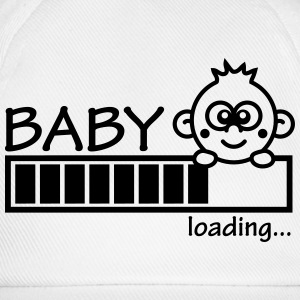 Baby Is Loading Girl T-shirts - Baseballkasket