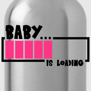 Baby Is Loading Design T-Shirts - Water Bottle