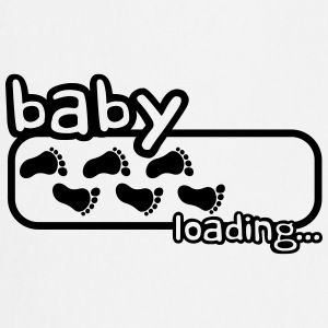 Baby Boy Is Loading Logo T-shirts - Förkläde