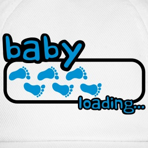 Baby Boy Loading Footprints Logo T-shirts - Baseballcap