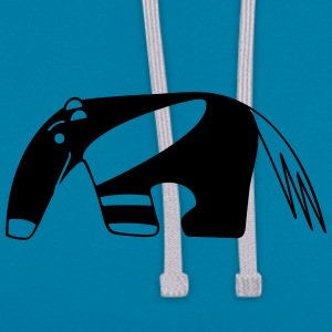 Anteater for dark backgrounds Accessoires - Sweat-shirt contraste