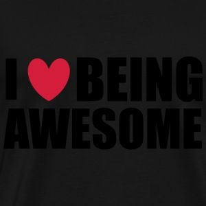 Being Awesome Sweatshirts - Herre premium T-shirt