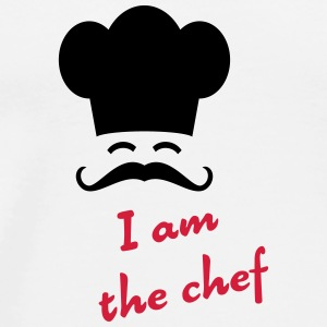 I am the chef Kopper & flasker - Premium T-skjorte for menn