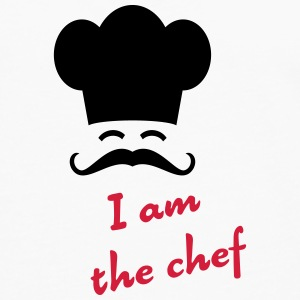 I am the chef Kopper & flasker - Premium langermet T-skjorte for menn