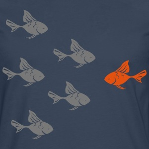 Against the Goldfish actual  Camisetas - Camiseta de manga larga premium hombre
