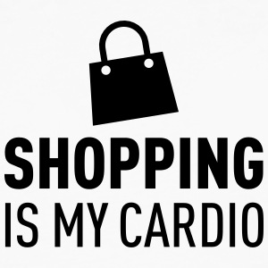 Shopping Is My Cardio T-shirts - Mannen Premium shirt met lange mouwen