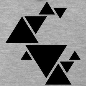 Hipster Triangle Design T-Shirts - Men's Premium Hooded Jacket