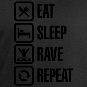 Eat sleep rave repeat Tee shirts - Sweat-shirt Homme Stanley & Stella