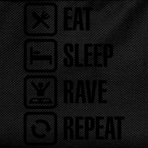 Eat sleep rave repeat Tee shirts - Sac à dos Enfant