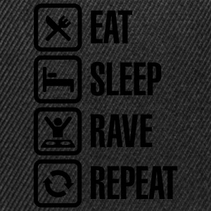 Eat sleep rave repeat Tee shirts - Casquette snapback