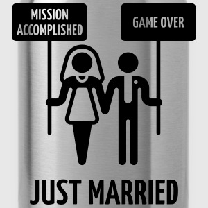 Just Married, Mission Accomplished, Game Over - Trinkflasche