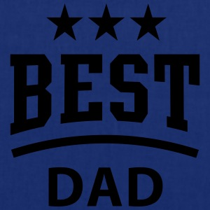 BEST DAD 3 Star T-Shirt WHITE - Tote Bag