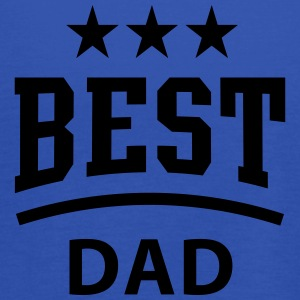 BEST DAD 3 Star T-Shirt WHITE - Women's Tank Top by Bella