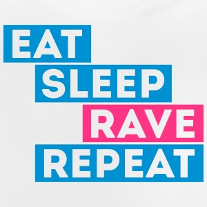 eat sleep rave repeat music t-shirts Camisetas - Camiseta bebé