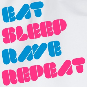 i love eat sleep rave repeat music raver t-shirts Sudaderas - Mochila saco