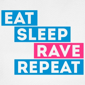 eat sleep rave repeat music t-shirts Sudaderas - Gorra béisbol