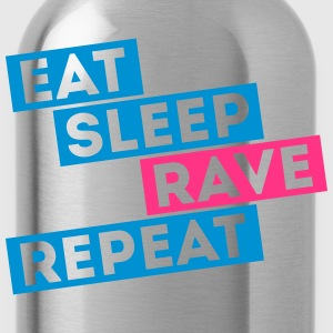 i love eat sleep rave dance musik repeat t-shirts T-Shirts - Trinkflasche