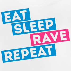 i love eat sleep rave dance musica repeat t-shirts Magliette - Maglietta per neonato