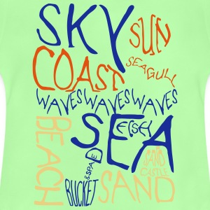 Beach Words 3 Colour Shirts - Baby T-Shirt