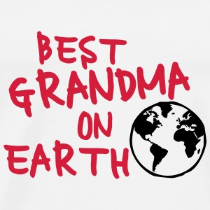 Best grandma on earth Flaschen & Tassen - Männer Premium T-Shirt