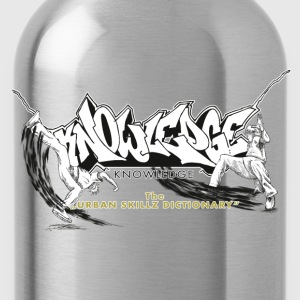 KNOWLEDGE - the urban skillz dictionary - promo sh - Trinkflasche