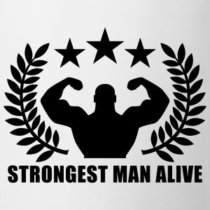 Strongest man alive T-shirts - Mugg