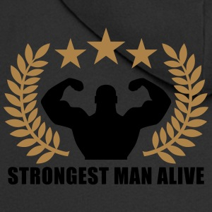 Strongest man alive 2c T-Shirts - Men's Premium Hooded Jacket
