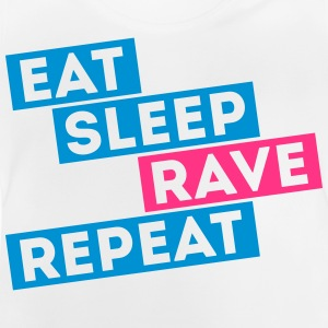 i love eat sleep rave dance música repeat t-shirts Camisetas - Camiseta bebé