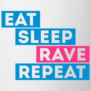 eat sleep rave dj repeat musik t-shirts T-Shirts - Tasse