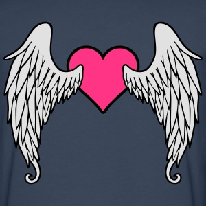 Angel Wings Feather Heart Magliette - Maglietta Premium a manica lunga da uomo