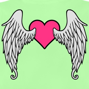 Angel Wings Feather Heart Skjorter - Baby-T-skjorte